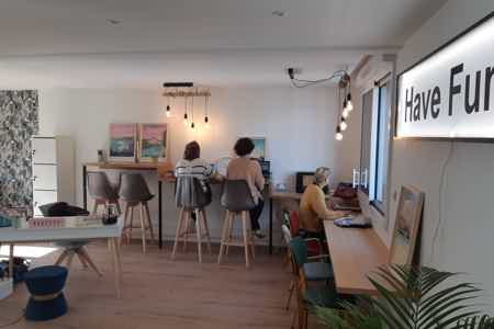 Place de coworking en open space