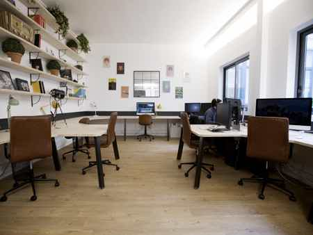 Bureau neuf style industriel