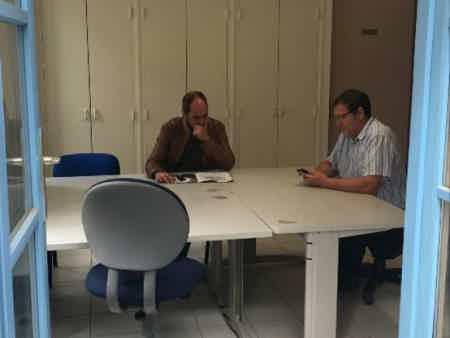 Bureau partagé en coworking rural