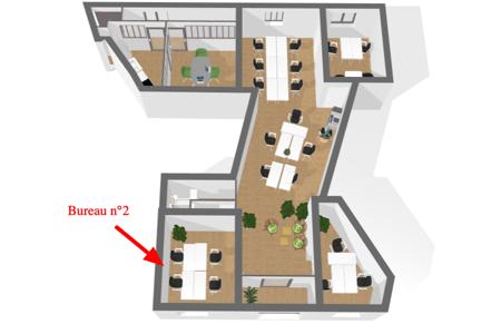 Jardin public - bureau fermé 12m2