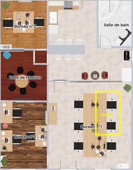 Poste dans open space - Hyper centre-1