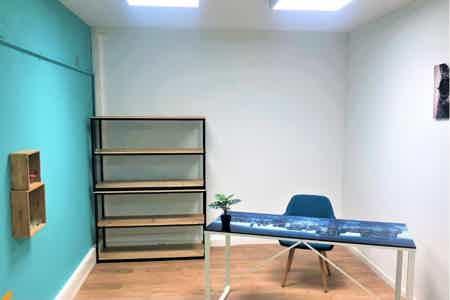 bureau bleu individuel à louer